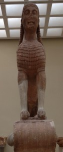 Η Σφίγγα στο Μουσείο των Δελφών
